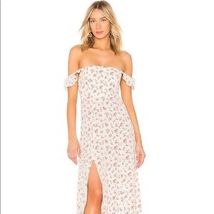 Flynn Skye Bardot Maxi in Countryside Blooms